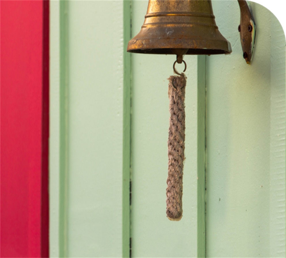 Old bell with tassel hanging down